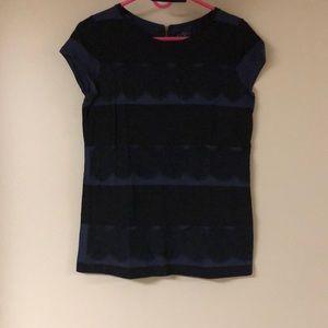 Loft Lace Stripes T-Shirt